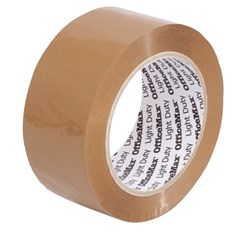 OfficeMax Light Duty Packaging Tape 48mm x 100m Tan Brown