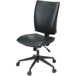 Edge Chair High Back 3 Levers Black Leather