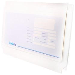 Codafile Wallet File 156321 35mm Expansion Covering Flap *Unfolded
