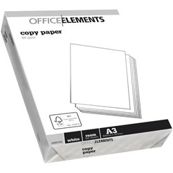 Office Elements A3 80gsm White Copy Paper, Pack of 500