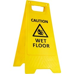 Caution Wet Floor Safety Sign Collapsible 290x660mm