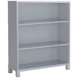 Cubit Bookcase 2 Shelves 1200mm Silver