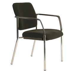 Buro Lindis Guest Chair With Arms Black