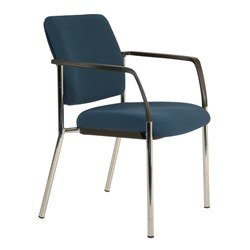 Buro Lindis Guest Chair With Arms Navy