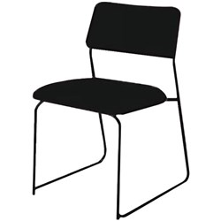 IRL Avon Stacker Chair Ebony Black Fabric