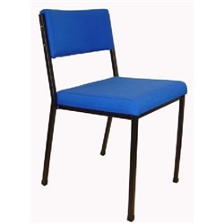 MS2 Stacker Chair Black Frame Electric Blue Fabric