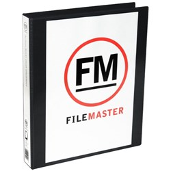 FM Overlay Ringbinder A4 38mm 4 Ring Black