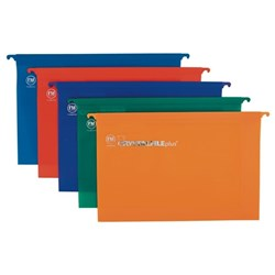 Crystalfile Suspension Files Foolscap Assorted Colours, Pack of 10