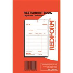 Rediform Restaurant Order Book NCR Duplicate Set of 50