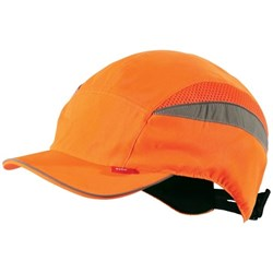 Airpro Hi Vis Safety Baseball Bump Cap Orange
