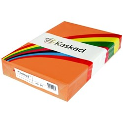 Kaskad A3 80gsm Fantail Orange Colour Copy Paper, Pack of 500