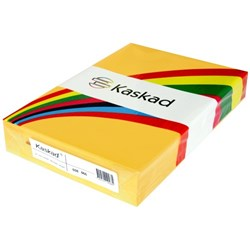 Kaskad A3 80gsm Goldcrest Yellow Colour Copy Paper, Pack of 500