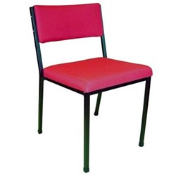 MS2 Stacker Chair Black Frame Crimson Red Fabric