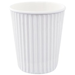 Ripple Hot Paper Cups 240ml White, Carton of 1000