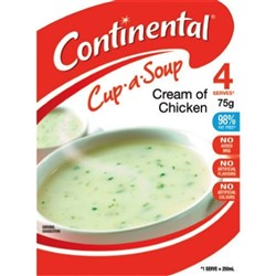 Continental Cup-a-Soup Cream Of Chicken 75g, Pack of 4