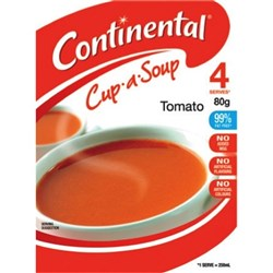 Continental Cup-a-Soup Tomato 75g, Pack of 4