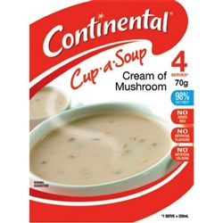 Continental Cup-a-Soup Cream Of Mushroom 70g, Pack of 4