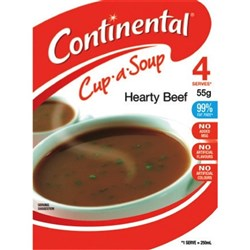 Continental Cup-a-Soup Hearty Beef 55g, Pack of 4