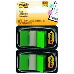Post-it® Flags 680-3 Green, Pack of 100