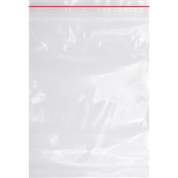Heavy Duty Resealable Plastic Bags 75x130mm, Pack of 50