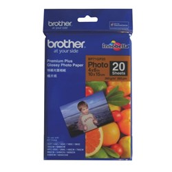 Brother 6x4 Inch Premium Plus Inkjet Glossy Photo Paper, Pack of 20