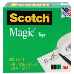 Scotch® Magic&#153 810 Invisible Tape 19mm x 33m
