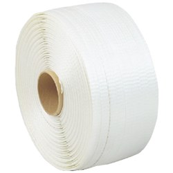 Woven Textile Polyester Strapping 19mm x 500m White