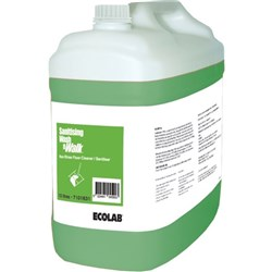 Ecolab Wash & Walk Floor Cleaner/Sanitiser 10 Litre