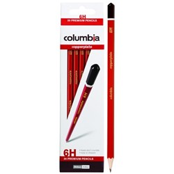 Columbia Copperplate 6H Pencil, Box of 20