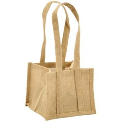 Jute Natural Bag With Handles Medium, Pack of 5
