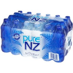 Pure NZ Still Spring Water 600ml, Pack of 24