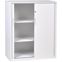 Proceed 3 Tier Tambour Cabinet With PVC Doors White 1200mm