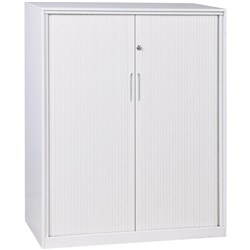 Proceed 4 Tier Tambour Cabinet With PVC Doors White 1200mm