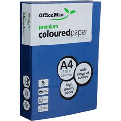 OfficeMax A4 80gsm Nifty Navy Premium Colour Copy Paper, Pack of 500