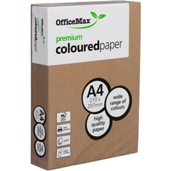 OfficeMax A4 80gsm Beefy Brown Premium Colour Copy Paper, Pack of 500