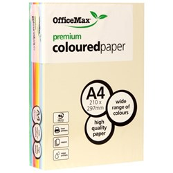 OfficeMax A4 160gsm 10 Assorted Colours Premium Copy Paper, Pack of 250