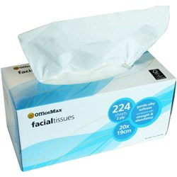 OfficeMax Premium Facial Tissues 2 Ply, Pack of 224 sheets
