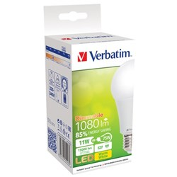 Verbatim E27 Classic A LED Light Bulb 11W Dimmable Screw 3000K Warm White