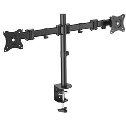 Digitus Dual Monitor Arm 15 To 27 Inch With Clamp Base