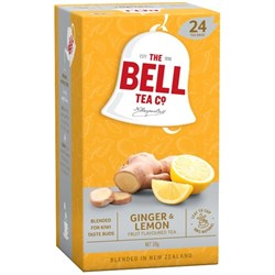 Bell Fruit Lemon and Ginger Tea Bags, Pack of 24