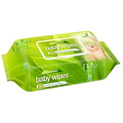 Pure Baby Wipes Resealable, Pack of 80