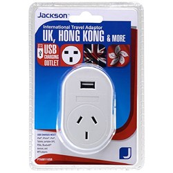 Jackson Outbound Travel Adaptor 11 Converts NZ & AUS Plugs to UK Hong Kong & Vietnam