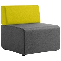 Seattle Single Seat Sofa Augustus Fabric/Turmeric/Armour