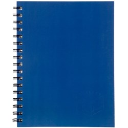 Spirax 511 A5 Hard Cover Notebook Blue 200 Pages