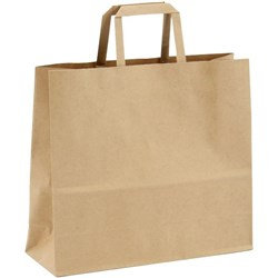 Paper Bag Carrier Handle Medium **355x120x240mm / 340x145x320mm Brown