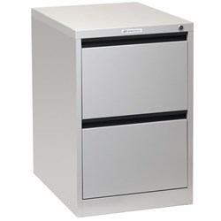 Precision Filing Cabinet 2 Drawer Vertical Silver Grey
