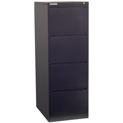 Precision Filing Cabinet 4 Drawer Vertical Black Texture