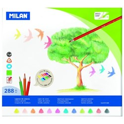 Milan Triangular Colouring Pencils Assorted Colours, Box of 288