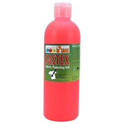 Fastex Textile Ink Fluoro Red 500ml