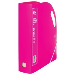 FM Premium Magazine Holder Expandable Shocking Pink